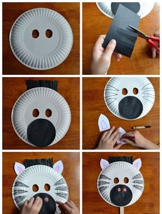 tiermasken basteln diy anleitung einfach & 20 Easy and Adorable Paper Plate Crafts - Page 17 of 20 | For ...