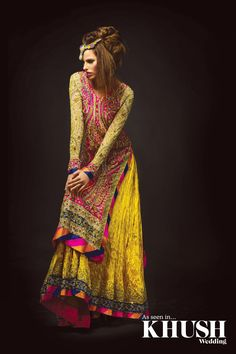 The Pakistani Bridal Dresses 2017 reveal shades and designs for shaadi season.Collection of the most beautiful Pakistani Bridal dresses Latest Bridal Dresses, Pakistani Bridal Dresses, Pakistani Outfits, Indian Dresses, Indian Outfits, Wedding Dresses, Mehndi Outfit, Mehndi Dress, Urban Dresses