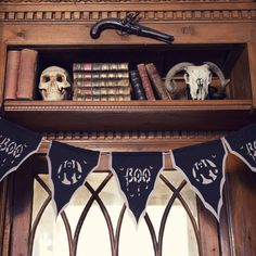 boo ghost bunting with skulls from Not on the High Street - Baloolah Bunting Party decor