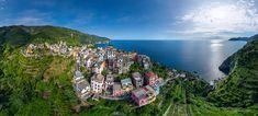 Italy, Corniglia — the smallest town of Cinque Terre • AirPano.com • Photo