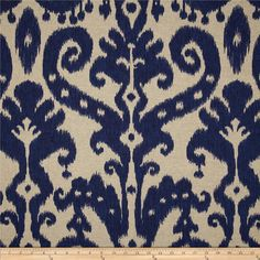 Lacefield Marrakesh Batik Indigo from @fabricdotcom  Screen printed on a medium/heavy weight cotton/rayon blend; this…
