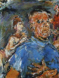 Oskar Kokoschka - Self portrait between Devil and Muse, 1969 Franz Marc, Max Beckmann, Gustav Klimt, Max Oppenheimer, Ludwig Meidner, Karl Schmidt Rottluff, Chaim Soutine, George Grosz, Tate Gallery