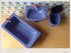 Vintage Bodo Hennig Bathroom Set  Dollhouse by TinyVintageFinds, €12.00