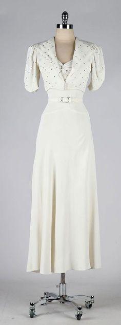 Une robe de mariée des années 30 Plus