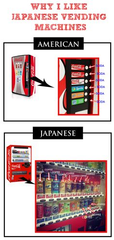 We lived in Okinawa Japan for 5 years and this is what I miss the most! Little known fact: The ratio of vending machines to people in Japan is 1 to 23. I really miss those machines! They were literally EVERYWHERE! And the warm coffee with cream and sweetener was delicious!