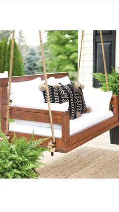 Diy Furniture Couch, Diy Furniture Plans Wood Projects, Diy Outdoor Furniture, Outdoor Decor, Outdoor Swings, Outdoor Living, Outdoor Beds, Outdoor Balcony, Backyard Furniture