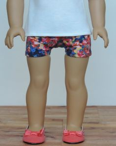 Upcycled Floral Knit Shorts American Girl by HerDollEssentials