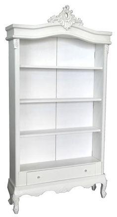 Pure White French Shabby Chic Style Display Cabinet/Bookshelf