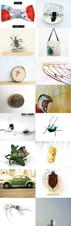 InSecT INvaSiOn 2 by ILze Apine on Etsy--Pinned with TreasuryPin.com Insects, Board, Etsy, Planks