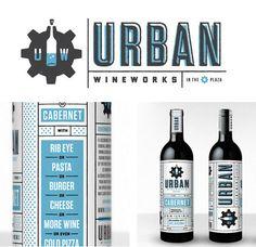 Urban Wineworks wine packaging