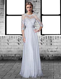 Formal+Evening+Dress+-+Silver+Plus+Sizes+/+Petite+A-line+Jew...+–+USD+$+119.99