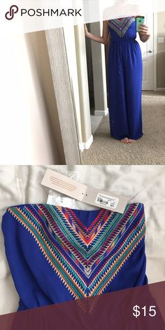 """Francesca's Jumpsuit New with tags. Size medium, runs long (I am 5'9"""" and it hits the floor on me) Francesca's Collections Other"""