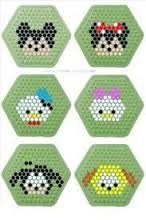 Tsum Tsum Mickey Mouse and Friends Perler Bead Pattern Perler Bead Templates, Pearler Bead Patterns, Diy Perler Beads, Perler Bead Art, Perler Patterns, Pearler Beads, Fuse Beads, Disney Diy, Disney Crafts