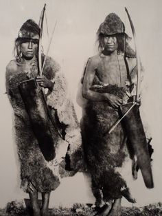 Two young Selk'nam in 1896 ANNE CHAPMAN SHOCKING