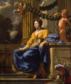 VOUET, Simon Allegorical Portrait of Anna of Austria as Minerva  - 1640s