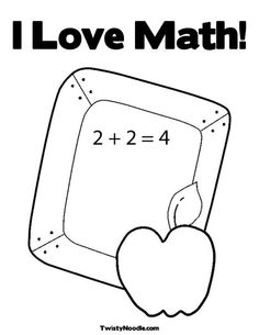i love math coloring page that you can customize and print for kids