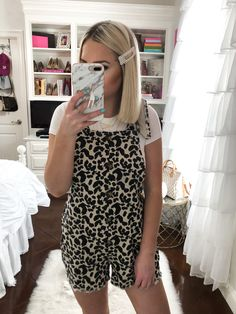 9a1915e2049 Sassy Southern Blonde - A Fashion   Lifestyle Blog by Kelsie Bynum. MAY AMAZON  TRY ON HAUL- leopard overalls