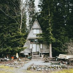 """A-frame summer retreat on Jones Lake, BC"""