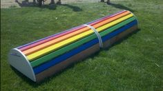 Over The Rainbow DIY roll-top jump from Home Made Horse Jumps