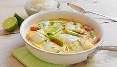 Bacalao fresco al curry Cod Recipes, Fish Recipes, Seafood Recipes, Dinner Recipes, Healthy Recipes, Fish Dinner, Seafood Dinner, Pasta Al Curry, Salsa Curry