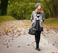 Layering Grey, Black and White for Fall