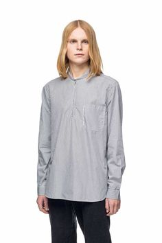 $235 OUR LEGACY - Shawl Zip Shirt