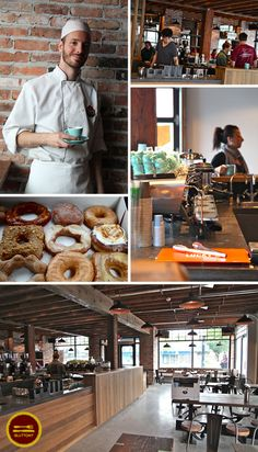 Newly opened 49th Parallel Cafe & Lucky's Doughnuts at Main St. in Vancouver. DONUT LOVE.