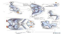 Maserati Hommage interior sketches by Francesco Gastaldi