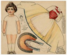 75.2390: Dolls of the Nations: Switzerland | paper doll | Paper Dolls | Dolls | Online Collections | The Strong