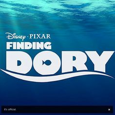 Finding Dory...can't wait!