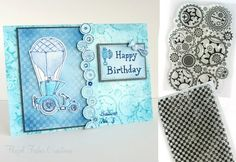 2014Jan22 steampunk stamps inky doodles card samples 2.   I have a steampunk gears border stamp that would work.