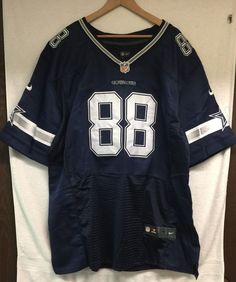 COWBOYS  88 BRYANT Dark Blue White Game Jersey Size  60. ♢ Sleeve Length   (Top of Neck to ... adc59c79e