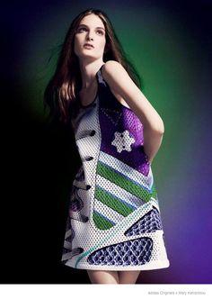 View the Mary Katrantzou for adidas Originals Lookbook