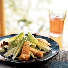 Grilled Salmon Recipes | Grilled Salmon Caesar Salad | CookingLight.com