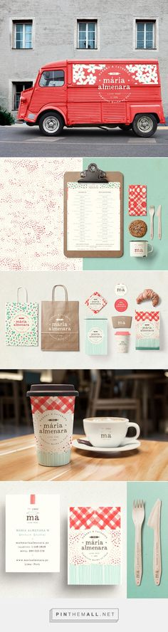 Maria Almenara one of Peru\'s most established Bakery and Catering businesses on Behance by Wallnut Studio curated by Packaging Diva PD. A whole new range of Brand Applications including Logotype, Graphic Identity and applications in packaging, delivery vans, and staff uniforms.