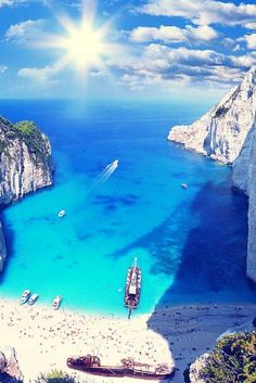 Navagio beach, Zakynthos island, Ionian Sea, Greece