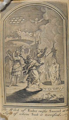 The History of Witches, Ghosts and Highland Seers    Contains many Scottish examples of witchcraft, second sight, dreams, and apparitions. The frontispiece shows the raising of Samuel by the witch of Endor.    The history of witches, ghosts, and Highland seers: containing many wonderful well-attested relations of supernatural appearances … Berwick, for R. Taylor, [1803]; duodecimo (Sp Coll Ferguson Al-b.40)