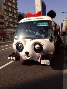 "I am taking the ""Panda Bus"" for sightseeing in downtown Tokyo, Asakusa.  #thingstodointokyo"