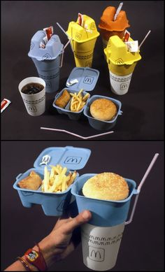 We can't decide how we feel about this one, but we do love the ingenuity! Fast Food Packaging by Ian Gilley