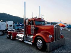 Big Rig Trucks, Semi Trucks, Cool Trucks, Custom Big Rigs, Custom Trucks, Kenworth Trucks, Peterbilt, Trailers, Vintage Trucks