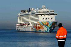 Norwegian Getaway arrives in Bremerhaven! #UltimateGetaway