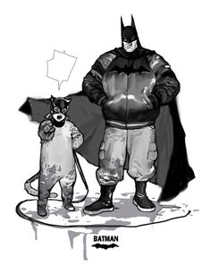 Batman with cat something.. by JUNGAHLEE on DeviantArt