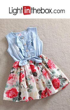 8daf4e85a83b Girl's Summer Floral Patchwork Floral Dress Girl Websites, Fashionista Kids,  Patchwork Dress, Baby