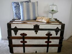 Trunk Makeover... @Susan Bright What happened to all those old trunks we used to have??