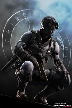 """Archer of Third Echelon. My favorite character in Splinter Cell Conviction with sarcastic quotes. Archer: """"From America with love asshole"""" Archer: """"Assh. Cyberpunk Character, Cyberpunk Art, Archer, Armor Concept, Concept Art, Gi Joe, Character Concept, Character Art, King's Quest"""