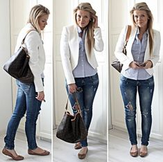 Ripped jeans (by Linda Juhola) http://lookbook.nu/look/3674033-Ripped-jeans