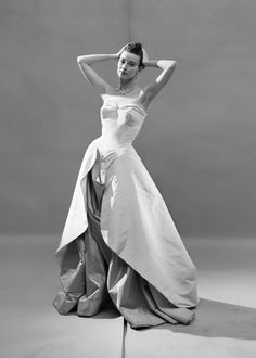 A model in a Charles James evening gown, 1948.