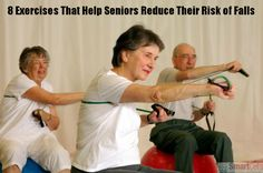 Here are 8 simple exercises that will help reduce the risk of elderly falls.