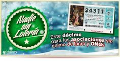 Compartimos nuestro décimo de Lotería de Navidad con asociaciones y ONGs. Pincha en la imagen para saber cómo participar.