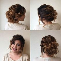 Cute Curly Updo for Prom